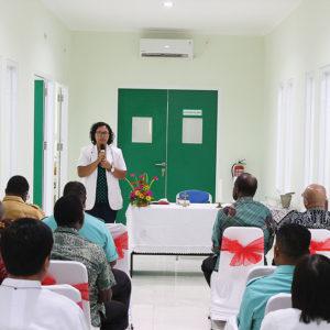 Sambutan oleh Plt. Direktur RSMM, dr. Theresia Nina.